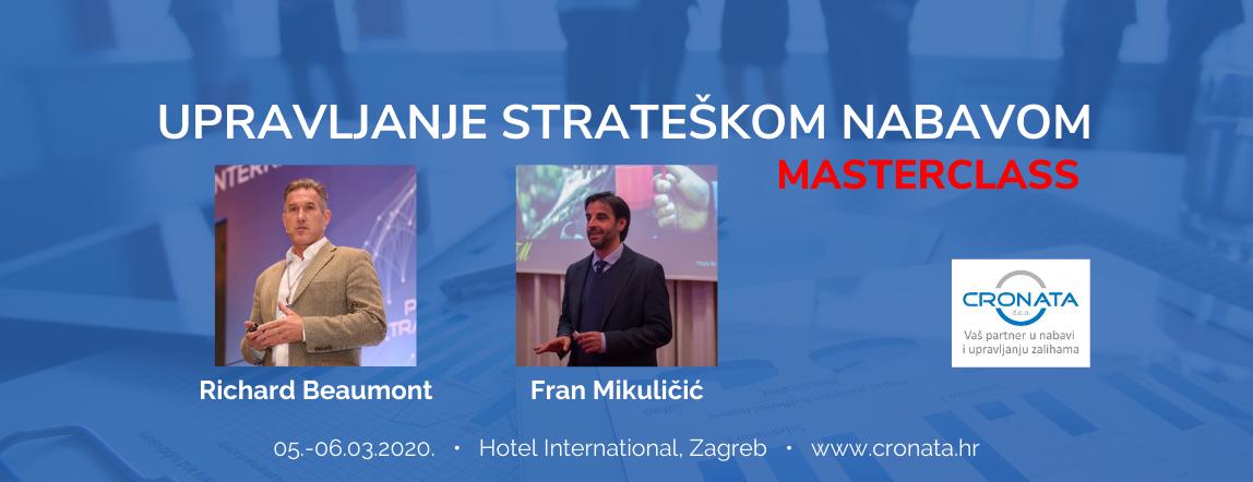 Upravljanje strateškom nabavom Masterclass Zagreb 2020.