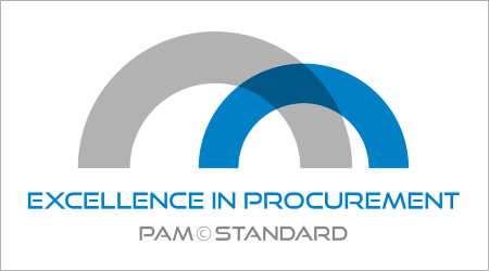 PAM standard Excellence in Procurement - certifikat logo